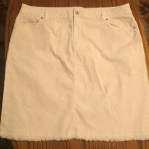 Dress Barn white blue Jean skirt